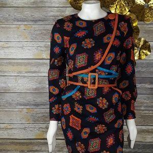 Vintage geometrical print dress